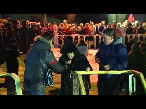 В Черкесске в массовых Крещенских купаниях приняли участие около 7 тысяч жителей и гостей города.