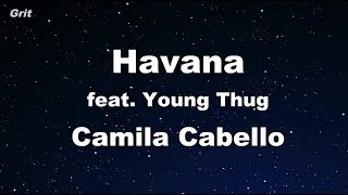 Havana ft. Young Thug - Camila Cabello Karaoke 【With Guide Melody】 Instrumental