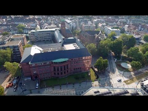 Die Universität Freiburg von oben