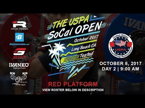 The USPA SoCal Open | Day 2 Red Platform | Powerlifting Meet
