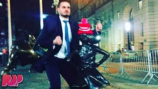"""Wall Street Bro Photographed Humping The """"Fearless Girl"""""""