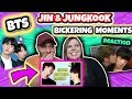 BTS JIN & JUNGKOOK BICKERING MOMENTS JINKOOK Reaction