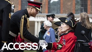 Prince Harry Has Sweet Visit With Elderly Vets In Honor Of The 75th Anniversary Of D-Day | Access