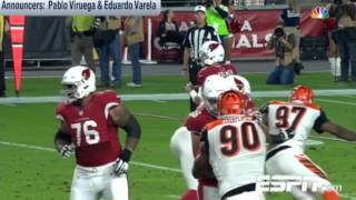 Carson Palmer Hace un Gran Lanzamiento a J.J. Nelson para un TD | NFL en Español