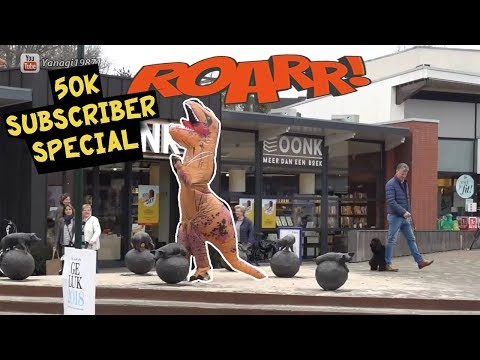 Extreme Burping In Public 15 Dinosaur / T-rex 50,000 subs Special