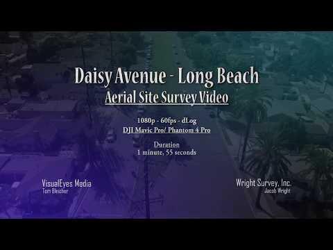 Daisy Avenue, Long Beach Aerial Site Survey