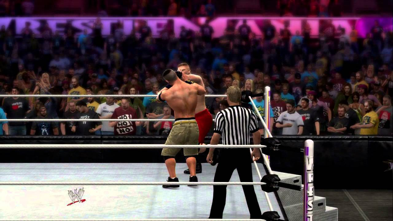 wwe 2k14 john cena vs brock lesnar - youtube