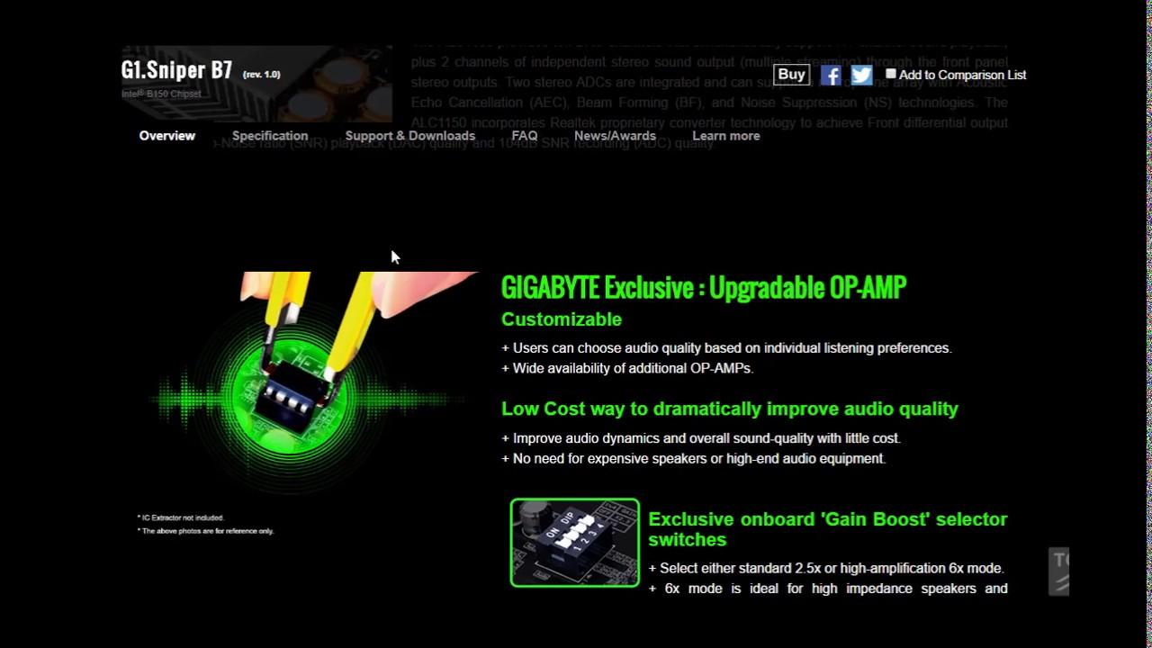 Gigabyte G1 Sniper B7 bios update by RealTech Master