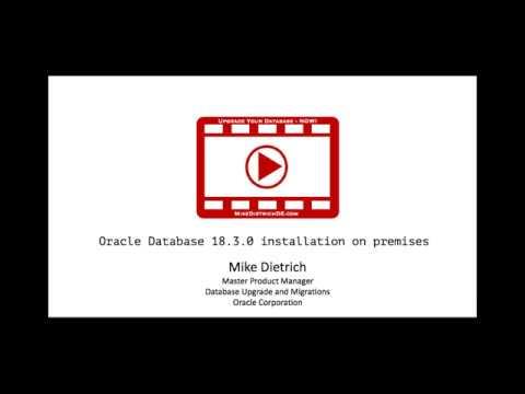 Installation of Oracle Database 18 3 0 on premises / Linux
