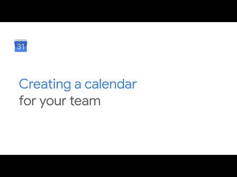 Create a team, project, or vacation calendar on Google Calendar