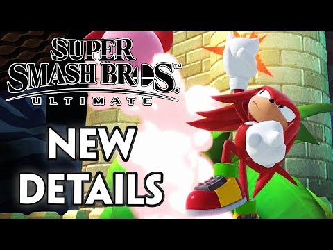 SUPER SMASH BROS. ULTIMATE - NEW DETAILS ON KNUCKLES THE ECHIDNA
