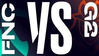 FNC vs. G2 - Week 7 Day 2 | LEC Summer Split | Fnatic vs. G2 Esports (2019)