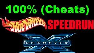 [WR] Hot Wheels Velocity X 100% (Cheats) Speedrun - 01:16:04