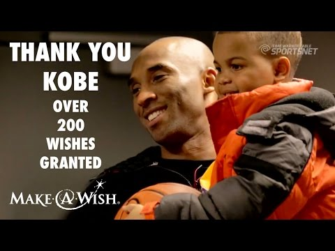 Kobe Bryant: Over 200 Wishes Granted