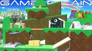 Mario 64's Bob-omb Battlefield Recreated in Smash Ultimate's Stage Builder (It's the Bomb!)