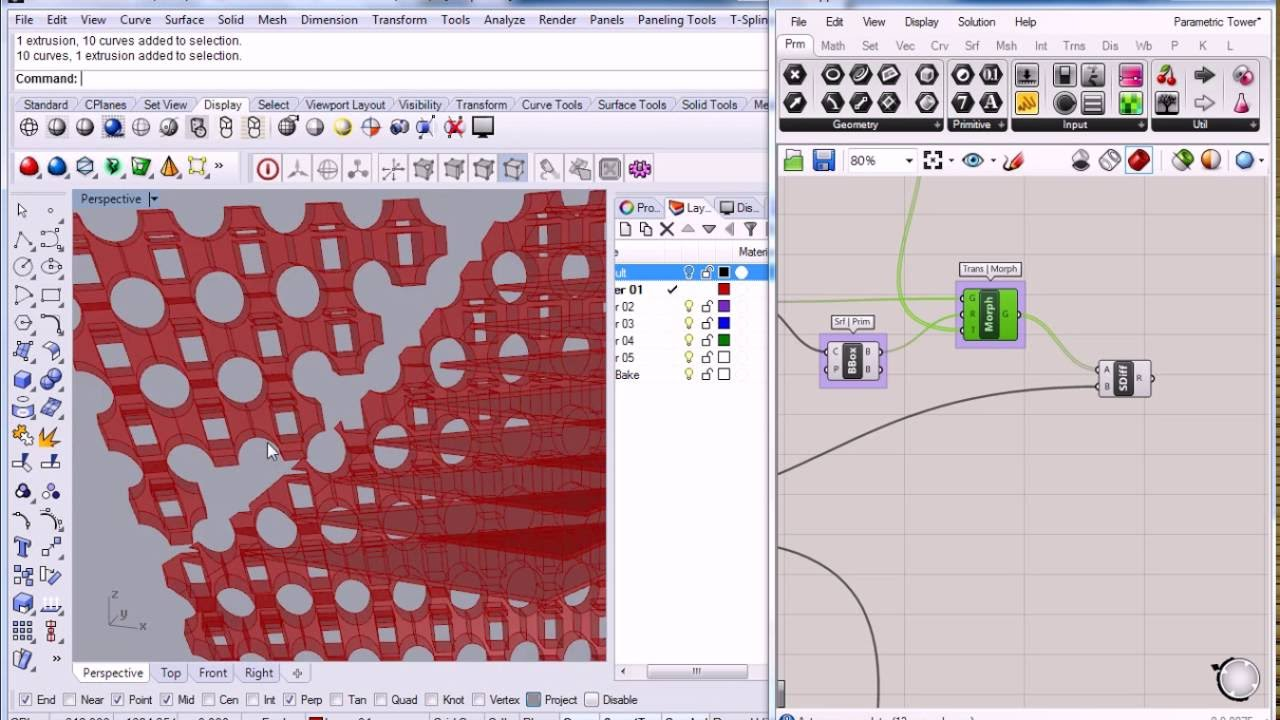 Grasshopper Parametric Tower 6 Facade Tiling Box