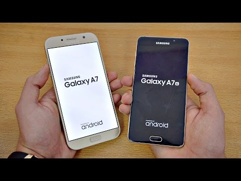 Samsung Galaxy A7 (2017) vs A7 (2016) - Speed Test! (4K)