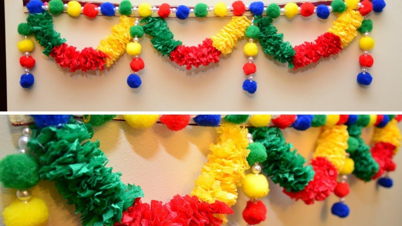 Diy Easy Toran Designs Diwali Decoration Ideas Mandir Decoration Idea Home Decor Ideas Youtube