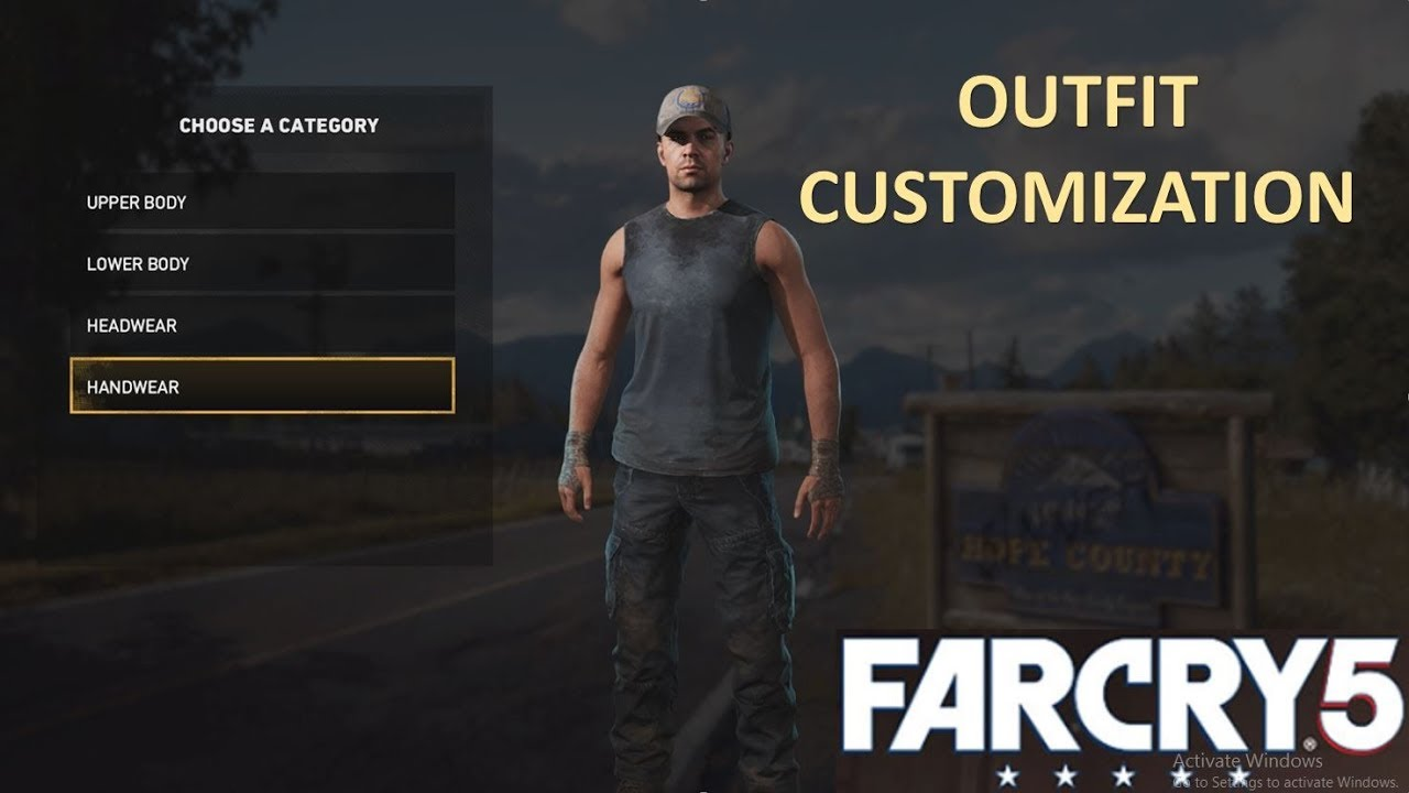 Far Cry 5 The Outfit Customization For The Deputy Youtube