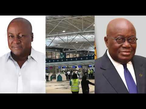 Credit Mahama on the new Terminal 3 at Kotoka Airport;Aide t
