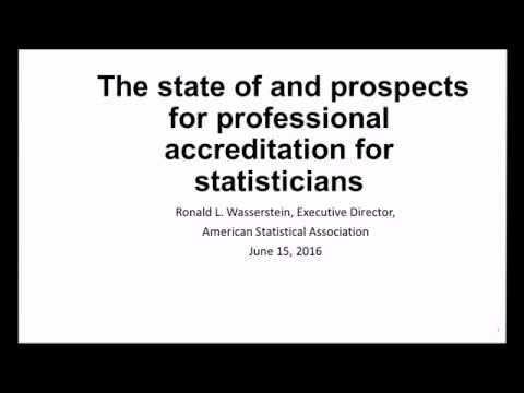 The state of and prospects for professional accreditation for statisticians