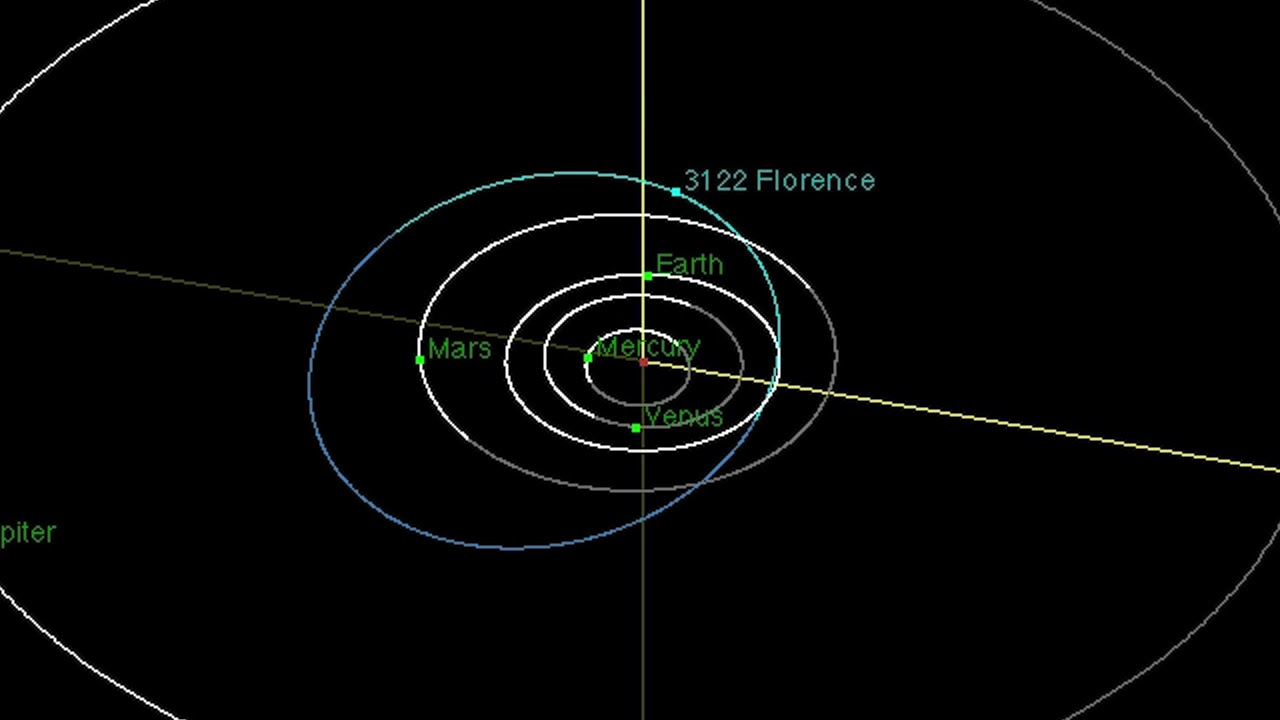 Enormous Near-Earth Asteroid 'Florence' Will Safely Fly by Earth Sept. 1