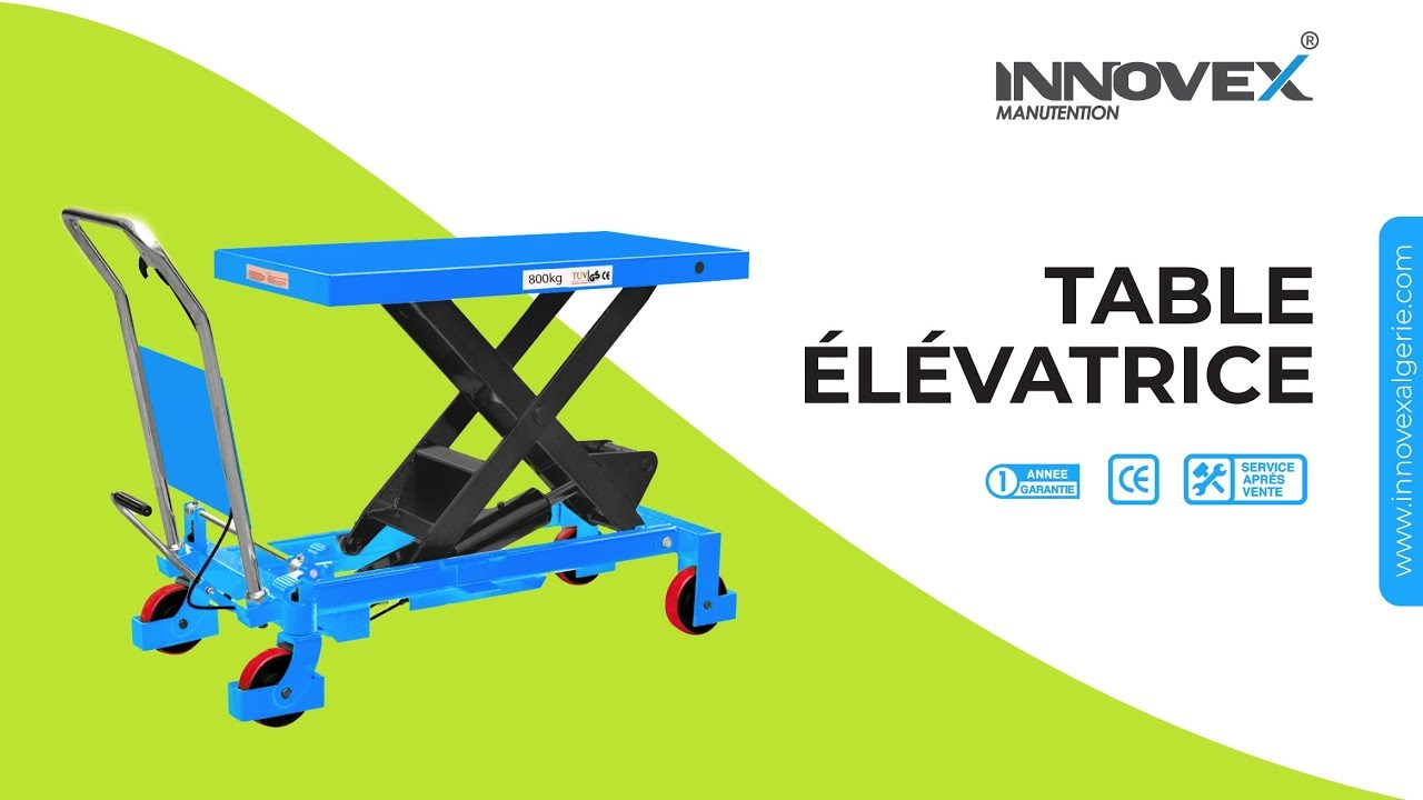 Table Elevatrice Hydraulique Youtube