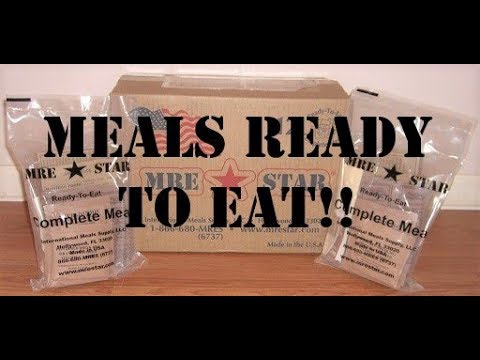 MRE Star - Meals Ready To Eat!!