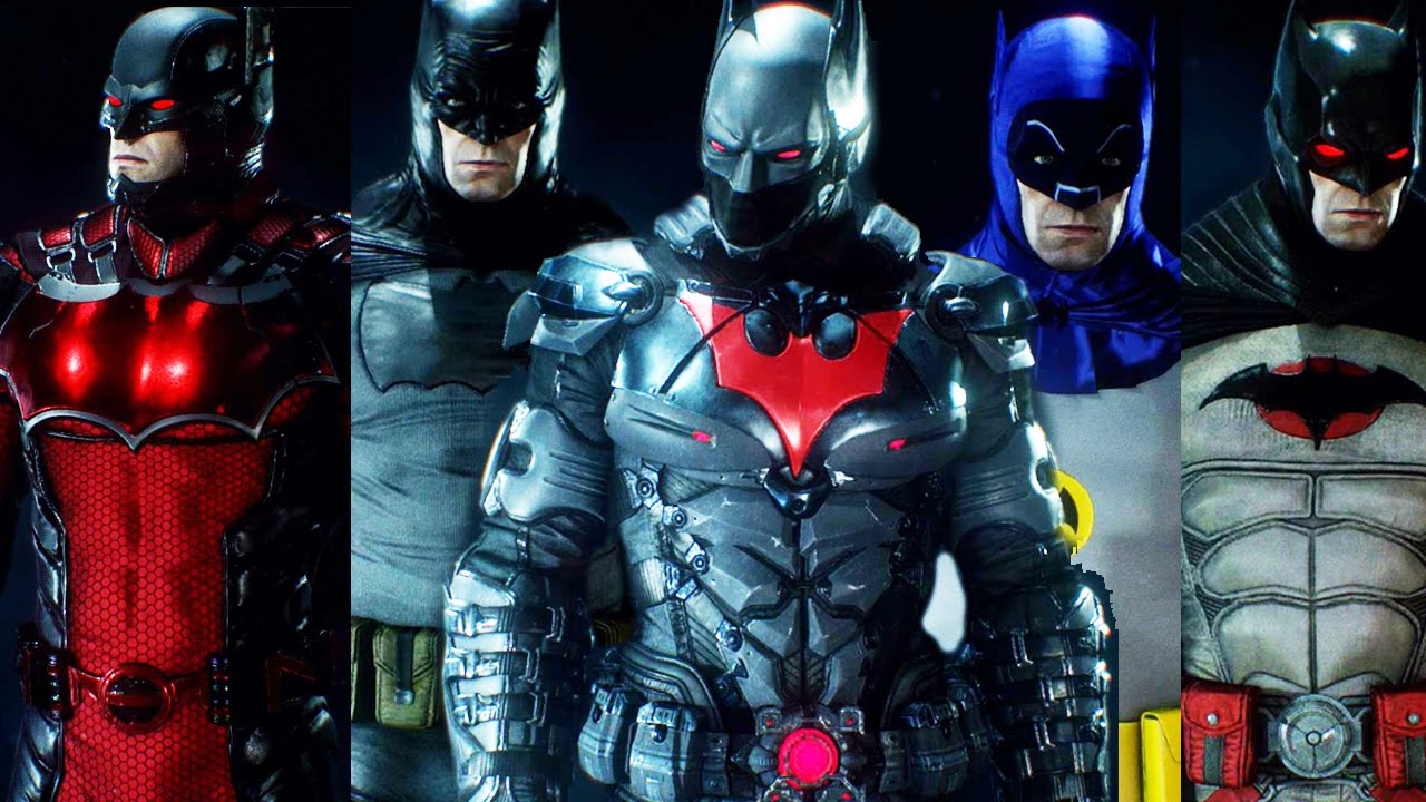 Batman Arkham Knight - ALL BAT SUITS + DLC UNLOCKED + Batman Beyond!! [FULL] - YouTube & Batman: Arkham Knight - ALL BAT SUITS + DLC UNLOCKED + Batman Beyond ...