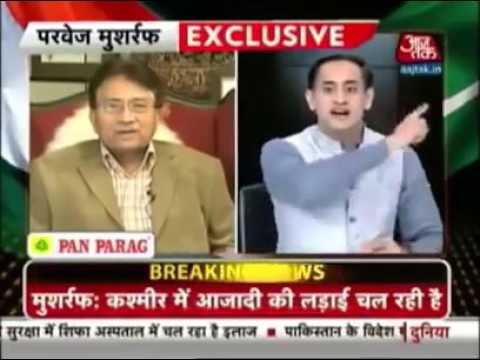 PERVEZ MUSHARRAF Mouth Breaking Reply To Indian Anchor During Interview
