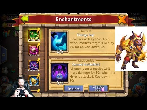 Augmenting AnubiS Rolling Enchantment Talents & Traits Castle Clash