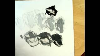 HOW TO MIX A GREY SCALE WITH ACRYLIC PAINT