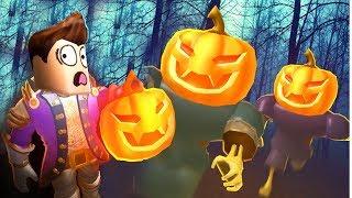 Игра про Приведение и ПОБЕГ из Дома СТРАХА в ROBLOX страшные приключения мульт героя Хэллоуин скоро