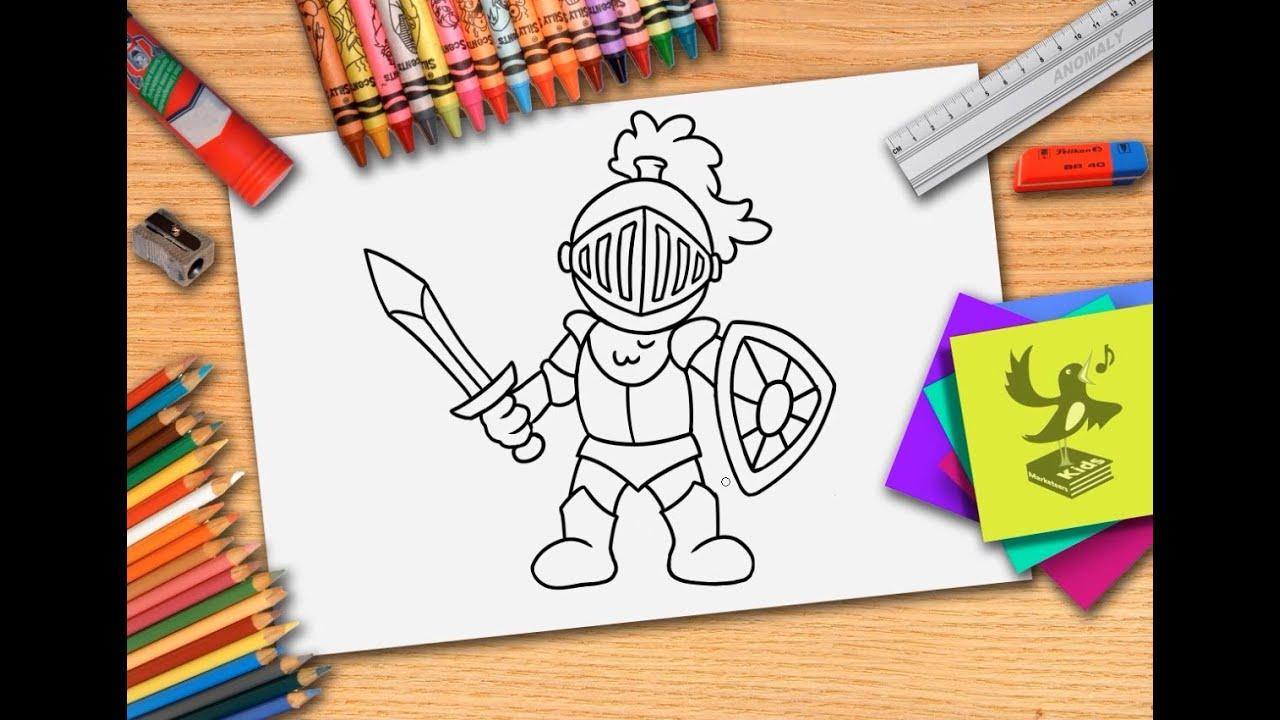 Wonderbaar Hoe teken je een ridder? Zelf ridder s leren tekenen - YouTube TS-61