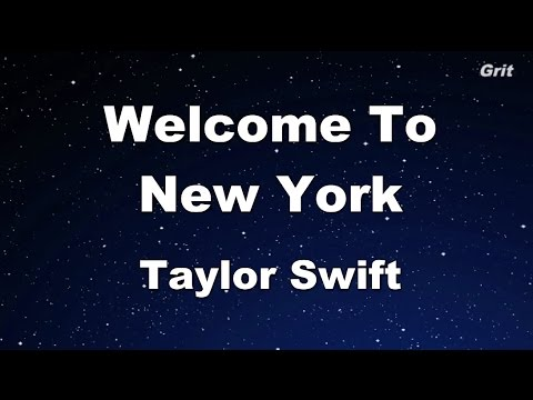 Welcome To New York - Taylor Swift Karaoke【No Guide Melody】