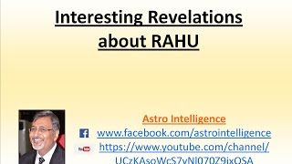 Interesting Revelations about Rahu