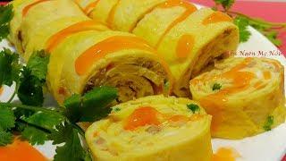 Cách Làm Trứng Rán Trứng Chiên Cuộn Thịt Bằm