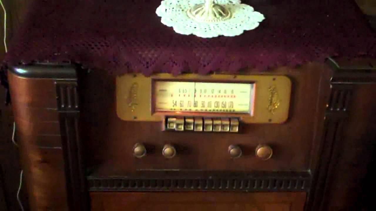 Silvertone Model Combination Console Vintage
