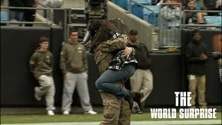 Army Specialist Surprises Family at Game