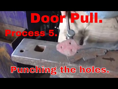 Door Pull. Process 5. Punching the holes.