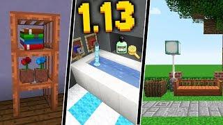 10 ДЕКОРАТИВНЫХ ИДЕЙ С НОВЫМИ БЛОКАМИ Minecraft 1.13