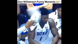 ZION WILLIAMSON funny moments. (DUKE EDITION)