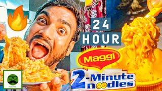 I only ate MAGGI for 24 hours Food Challenge Maggi Recipe  2 minute Maggie  Veggie Paaji