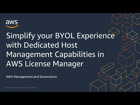 Simplify your BYOL Experience with Dedicated Host Management Capabilities in AWS License Manager