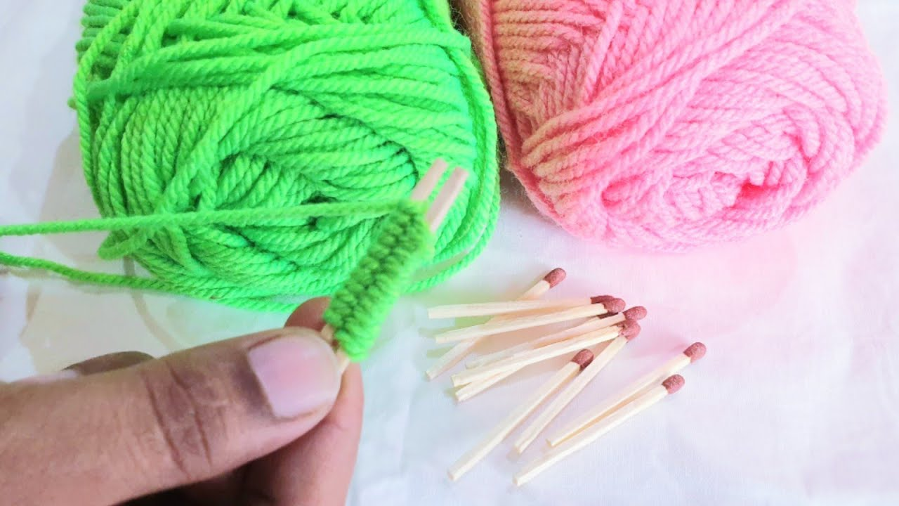Amazing Hand embroidery|Easy Woolen Flower Craft Idea With Cotton buds,Easy Flower Stitch,