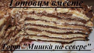 Торт 'Мишка на севере'