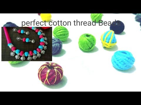 Easy way to make perfect cotton thread Beads for handmade jewelry || periwinkle TV