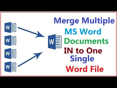 How To Merge Multiple ( Two Or More ) MS Word Documents Into One Single Word File  HoW Tube  2019