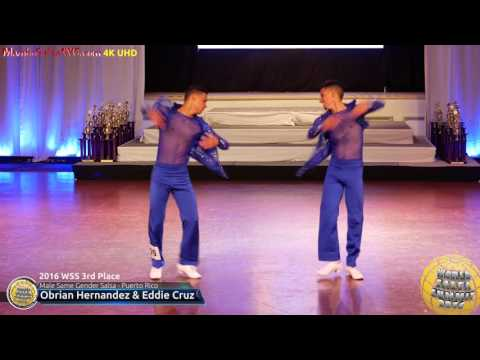 WSS16 Professional Male Same Gender Salsa 3rd Place Obrian Hernandez & Eddie Cruz