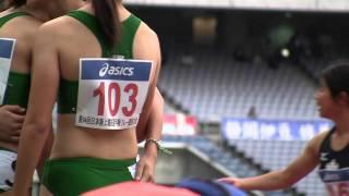 第41回ジュニアオリンピック(日本選手権 女子 4×400m 予選 走行後...